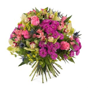 Bouquet with Roses and Orchids